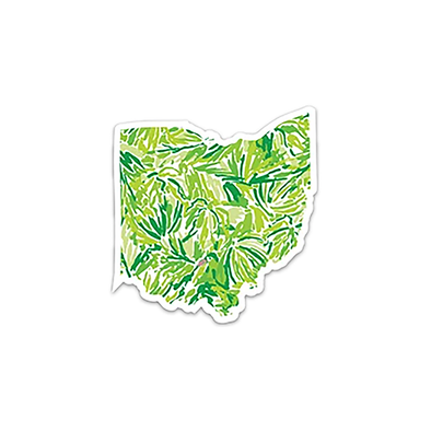 "Patterned Die Cut Ohio 4"" Sticker"