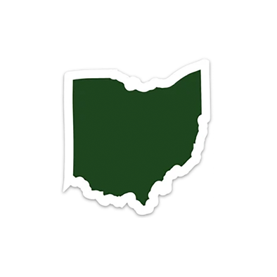 "Solid Color Die Cut Ohio 4"" Sticker"