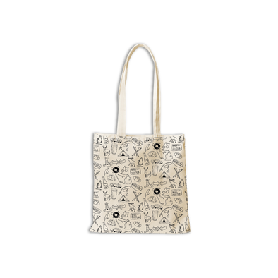 Michigan Icon Black & White Tote
