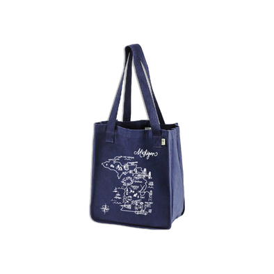 Michigan Map Tote