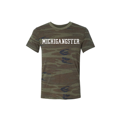 Camo Varsity Michigangster T-Shirt