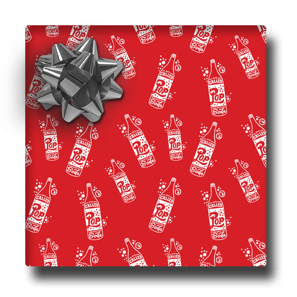 Pop Not Soda Wrapping Paper
