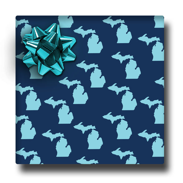 Aqua & Navy Wrapping Paper