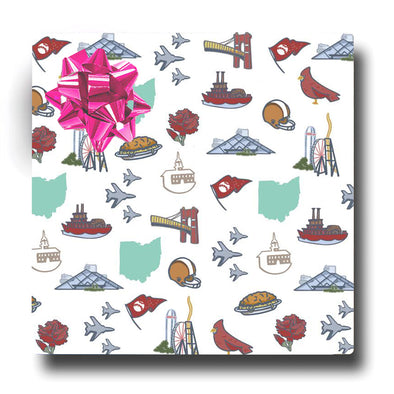 Ohio Icons Wrapping Paper