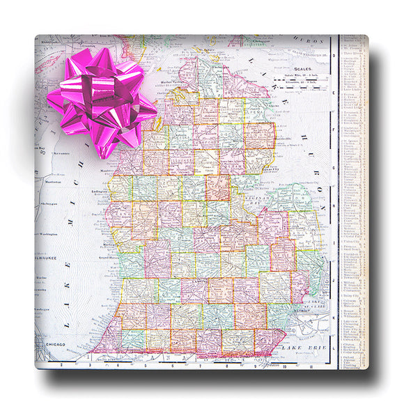Vintage Pastel Map Wrapping Paper