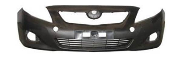 Toyota Corolla Front bumper with fog lamp holes 2008-2013