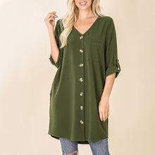 Cardigan Tunic Wood Buttons