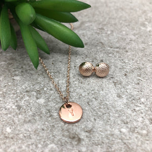 Dainty Necklace | Circle Letter