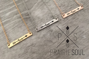 Dainty Necklace | Love Arrow