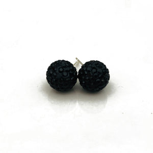 Glitterball Earrings - Black