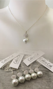 Custom Wedding Set Pearl Glitterball