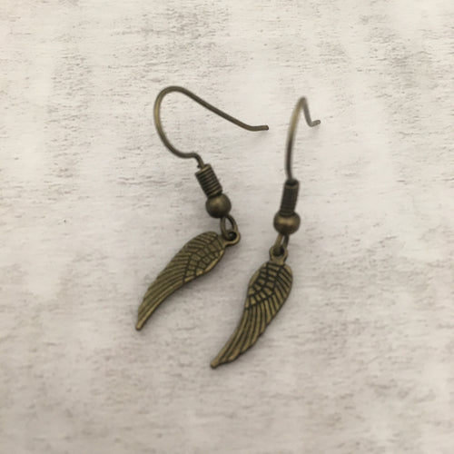 Charm Earring | Angel Wing Small
