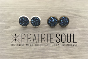 Druzy Earrings | Tiny Size 8mm