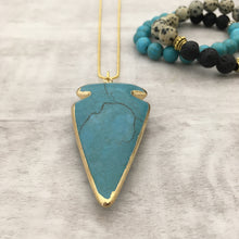 Turquoise Stone Arrow Head Necklace