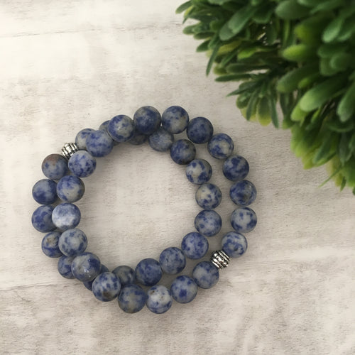 Stone stacker bracelet | Blue Dream
