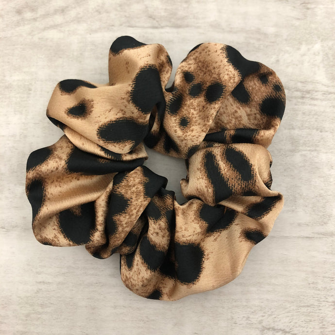 Hair Scrunchie - Leopard Print