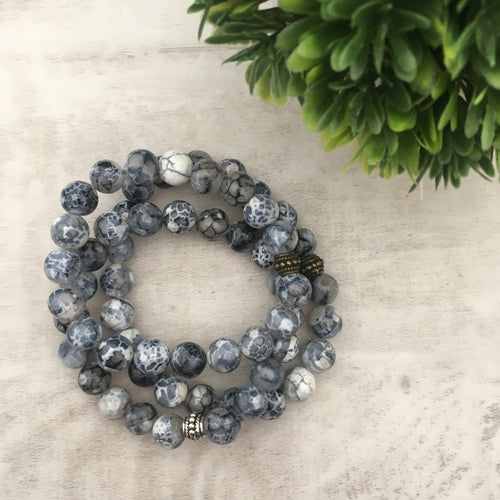 Stone stacker bracelet | Denim Delight