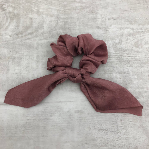 Hair Scrunchie Bow Tails - Solids