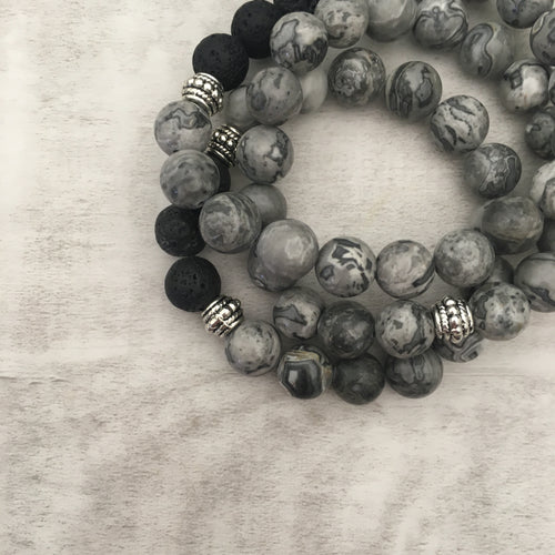 Stone stacker bracelet | 50 shades