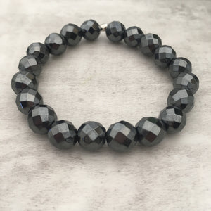 Stone stacker bracelet | Gun Metal Glory