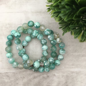 Stone stacker bracelet | Sea Foam