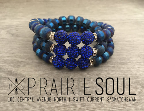 Slice Stacker Bracelet | Blue