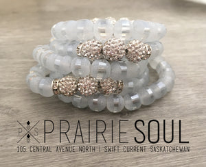 Slice Stacker Bracelet | Clear