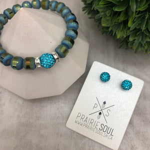 Slice Stacker Bracelet | Aqua MARCH Birthstone