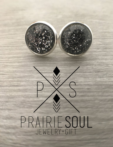 Druzy Earrings | Starry Sky - Black