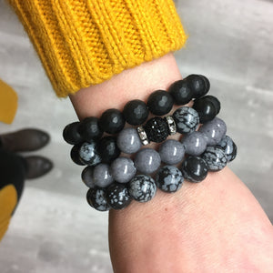 Stone stacker bracelet | Mixed Pepper
