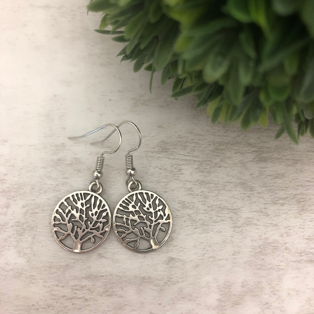 Charm Earring | Tree of Life Circle 2