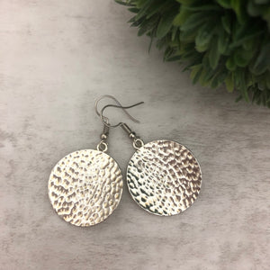 Charm Earring | Circles Hammered II