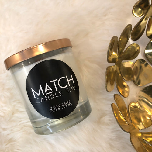 Match Soy Candle Cotton or Wood Wick
