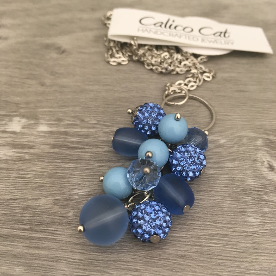 Necklace Cluster | Sapphire Blue