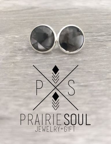 Druzy Earrings | Kaleidoscope - Black