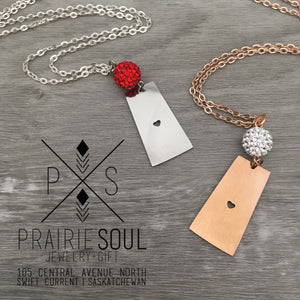Saskatchewan Prairie Heart Necklace