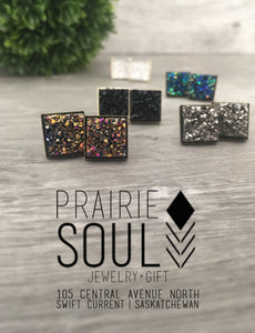 Druzy Earrings | Square