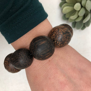 "bracelet sale 8 - chunky wood -  - fits wrist size 5.75"" or smaller"