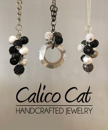 Cluster Necklace | Black + White