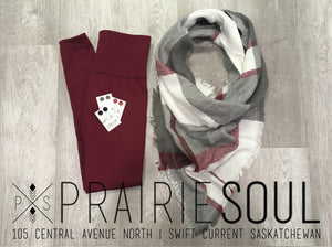 Triangle Blanket Scarf | Wine Patchwork