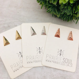 Metal Shape Stud Earring | Triangle Long Pyramid