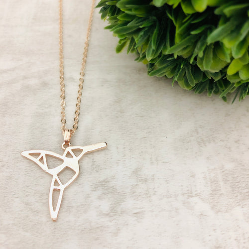 Dainty Necklace | Humming Bird