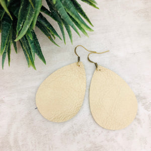 Leather Earring | Tear Drop