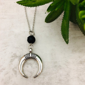 Aromatherapy Necklace | Crescent