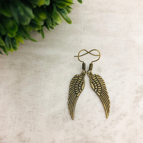 Charm Earring | Angel Wings