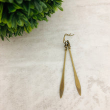 Charm Earring | Petal Long Textured Ends