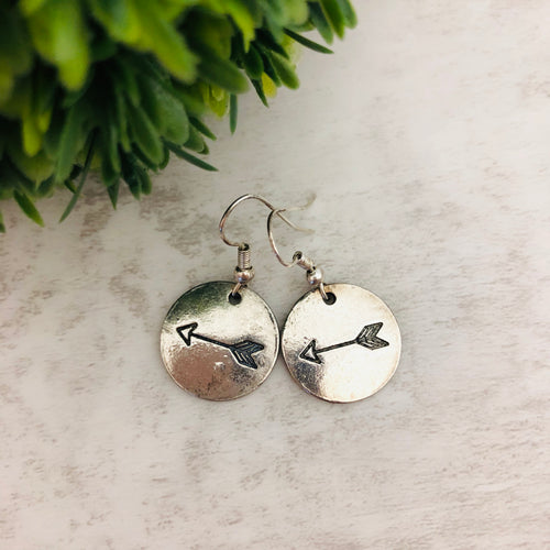 Charm Earring | Arrow Circle Single