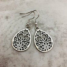Charm Earring | Teardrop Lotus