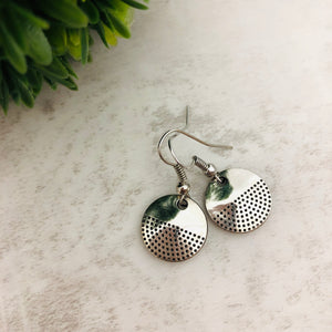 Charm Earring | Circle Half Dots