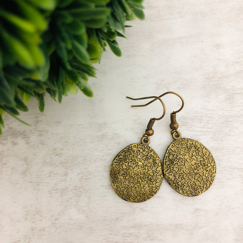 Charm Earring | Circles Hammered III